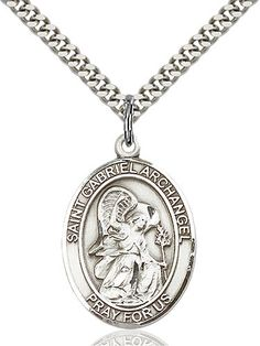 St. Gabriel the Archangel Pendant (Sterling Silver) by Bliss | Catholic Shopping .com