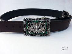 womens belt buckle Green rhinestone Boho belt by EyesofAnastasia