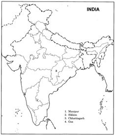 Blank Map Of India Pdf best photos of india map outline