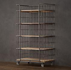 Circa 1900 Caged Baker's Rack Single Shelving