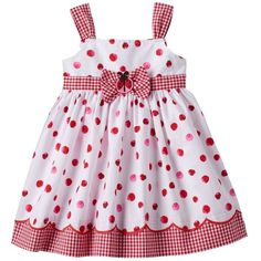 Sweeten her spring wardrobe with this charming girls' ladybug sundress by Blueberi Boulevard. In red/white.