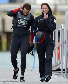 hrhduchesskate:  1851 Trust, Portsmouth, May 20, 2016-after a tour of the centre, the Duchess of Cambridge joined Sir Ben Ainslie and his crew for sailing