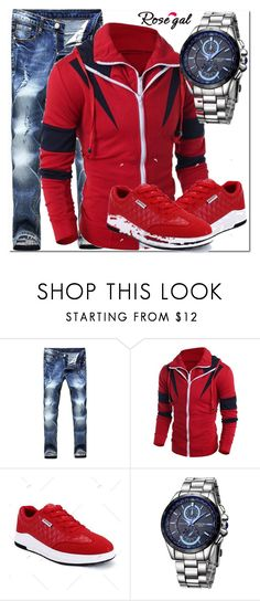 """""""hoodie"""" by fatimka-becirovic ❤ liked on Polyvore featuring men's fashion, menswear, hoodie and men"""