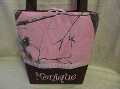Handmade custom pink realtree camo pink brown by creativesewing2, $34.99