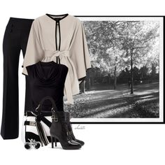 """""""Black and White Autumn"""" by christa72 on Polyvore"""
