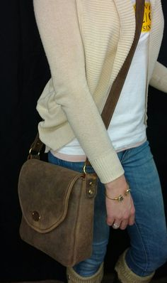 Handmade Leather Concealed Carry Cross Body by TwelveSixCompany