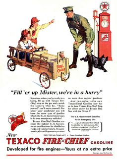 1940 Texaco Fire Chief Gasoline New Metal Sign Fireman Theme