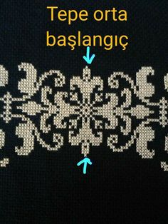 This Pin was discovered by Yas Cross Stitch Borders, Cross Stitch Alphabet, Cross Stitch Designs, Cross Stitching, Cross Stitch Patterns, Crochet Cross, Filet Crochet, Creative Embroidery, Prayer Rug