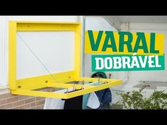 DIY - VARAL DOBRÁVEL | Diycore - YouTube Diy Rack, Laundry Hacks, Diy Wood Projects, Insta Photo, Diy Videos, Diy Woodworking, The Help, Home Accessories, Sweet Home