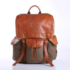 Lennon Backpack — a classic rucksack — is made with washed cotton canvas and bridle leather.