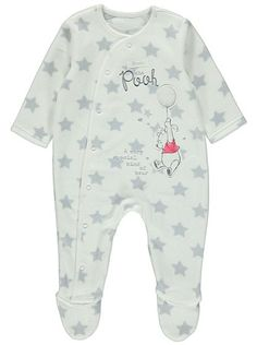 Disney Winnie the Pooh Sleepsuit, read reviews and buy online at George at ASDA. Shop from our latest range in Baby. An all-over star print and embroidered W...