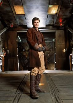 I so miss this show.  He was his most appealing as Mal.  But I have loved much of his work.   Nathan Fillion as Captain Malcolm Renolds in TV Show Firefly
