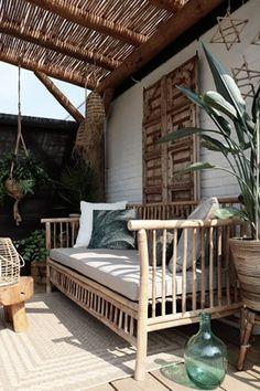 Garden Of Eve, Bali Garden, Home And Garden, Outdoor Spaces, Outdoor Living, Outdoor Decor, Terrazas Chill Out, Moroccan Garden, Pool Porch