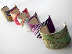 recycled silk necktie cuffs by sjbeans53