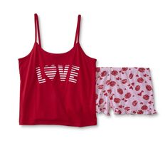 957d3e0b105 Joe Boxer Plus Size Women s Plus Pajama Top   Shorts - Kiss   Love