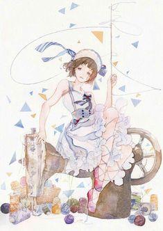 Đây là nơi lưu trữ tất cả những bức ảnh mình thấy đẹp ❤ Vì điện thoại… #phitiểuthuyết # Phi Tiểu Thuyết # amreading # books # wattpad Anime Chibi, Kawaii Anime, Manga Anime, Watercolor Illustration, Watercolor Art, Beautiful Anime Girl, Anime Artwork, Illustrations And Posters, Anime Style