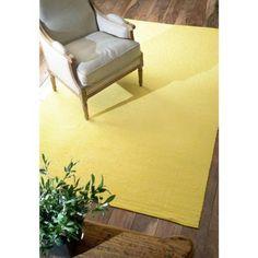 Diamond Cotton Check Ming Yellow 5 Ft X 8 Area Rug