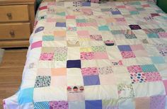 @Fiskars HQ can help you create a touching quilt pattern using old baby clothes.