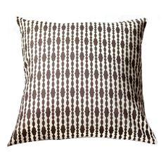 Organic Pillow Cover - Raindrops Chocolate. $65.00, via Etsy.