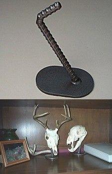 pipe display for taxidermy european skull mount Deer Skulls, Deer Antlers, Animal Skulls, Antler Crafts, Antler Art, Antler Mount, Deer Decor, Deer Hunting Decor, Hunting Crafts