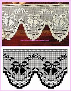 Crochet edging mantel The post .Crochet edging mantel appeared first on Gardinen ideen. Filet Crochet, Crochet Motifs, Crochet Diagram, Crochet Art, Crochet Home, Thread Crochet, Crochet Doilies, Crochet Stitches, Crochet Patterns