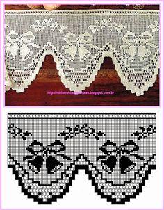 Bordura filet crochet