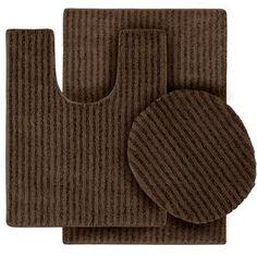 7a3bf321e169 Sheridan Chocolate Plush Washable Nylon Bath Rug Runner (22