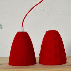 Felt lamp shade for pendant light red Ikea hack Ikea Hack, Felt, Shades, Pendant, Unique Jewelry, Handmade Gifts, Etsy, Vintage, Home Decor
