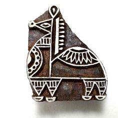 IBA Indianbeautifulart Handmade Leaf Design Wooden Block Textile Fabric Traditional Stamp Fine Art