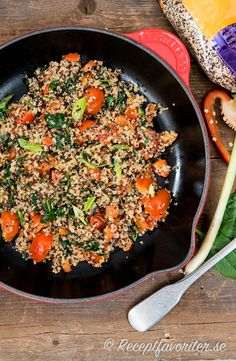 Iron Pan, Tahini, Quinoa, Broccoli, Zucchini, Vegetarian, Ethnic Recipes, Kitchen, Food