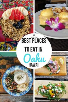 Foodie Travel 699465385858594912 - Best places to eat in Oahu for breakfast, lunch and dinner for all budgets and tastes. Usa Travel Guide, Travel Usa, Hawaii Travel, Oahu Hawaii, Hawaii Honeymoon, Maui, Best Street Food, Best Places To Eat, Foods To Eat