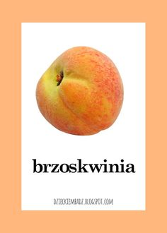 Dzieckiem bądź: Owoce i warzywa - plansze do pobrania Polish Language, Pear, Fruit, Origami, Anna, Food, Speech Language Therapy, Essen, Origami Paper