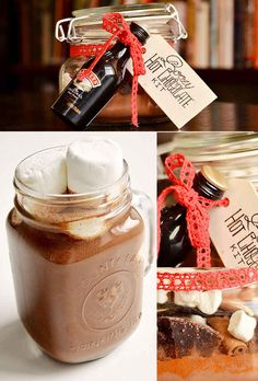Boozy Hot Chocolate Kit | 24 Delicious Food Gifts That Will Make Everyone Love You