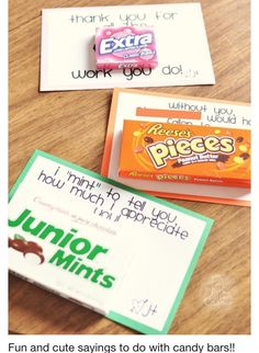 Cute candy notes