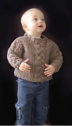 Ravelry: Childs Alternative Cable Pullover (C170) pattern by Yvette Silverman free