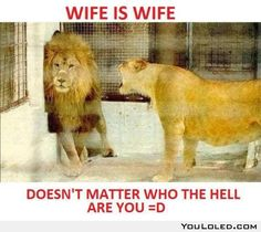 Wife is wife...lol