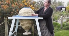 """Based on the form of wild bee nests, the Sun Hive is a design that comes out of """"bee-centered"""" apiculture, where the bees' natural tendencies are supported, rather than suppressed. Not surprisingly, bees seem to thrive in these hives."""