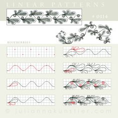 Linear pattern - Pattern 0114 by Julianna Kunstler Tangle Doodle, Tangle Art, Doodles Zentangles, Zen Doodle, Doodle Art, Doodle Patterns, Zentangle Patterns, Doodle Borders, Beginner Art