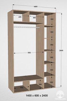 Wardrobe Door Designs, Wardrobe Design Bedroom, Closet Designs, Closet Built Ins, Built In Wardrobe, Wardrobe Dimensions, Clothes Cabinet, Diy Cardboard Furniture, Walk In Closet Design