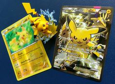 Closeup of Pikachu EX from our Pokemon 20 Generations unboxing!