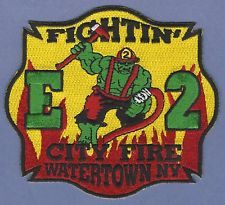 WATERTOWN NEW YORK ENGINE COMPANY 2 FIRE RESCUE PATCH