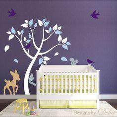 Nursery Tree Wall Decal for Boy or Girl Room
