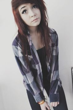 If I ever get a emo hair cut I would leve my hair it's natural color and cut it exactly like this ☺
