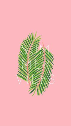 Freebie // Slowing Down and Summer Vibes pink and blue fern digital wallpapers