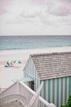 striped beach hut in bahamas Cottages By The Sea, Beach Cottages, Beach Houses, Summer Beach, Summer Vibes, Summer Days, Spring Summer, Best Honeymoon Destinations, Up House