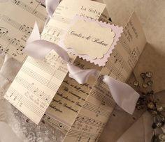 sheet music invitations