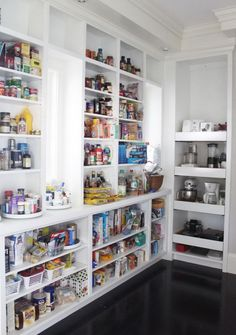 Open pantry ideas wood pantry shelving open shelves in kitchen storage ideas best open shelf pantry . Kitchen Pantry Design, Kitchen Organization Pantry, Kitchen Pantry Cabinets, New Kitchen, Kitchen Decor, Organized Kitchen, Awesome Kitchen, Kitchen Layout, Kitchen Ideas