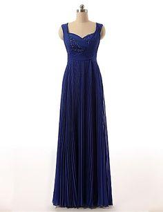 A-line Sweetheart Floor-length Chiffon Wedding Party Dress – USD $ 89.99