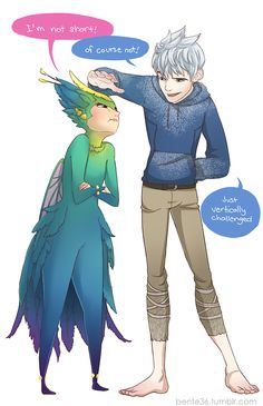 Am I the only one who's not shipping Jack and Elsa but Jack and Tooth Fairy?