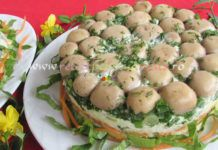 Salata Poienita cu Ciuperci Marinate
